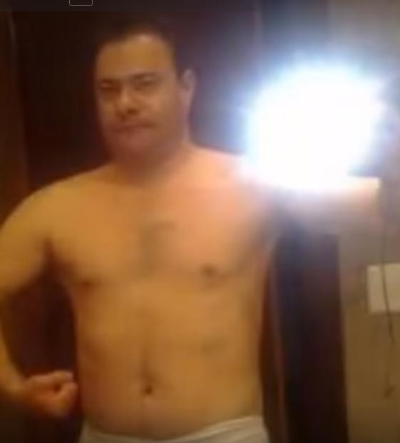 Marco Aurélio fazendo nudes