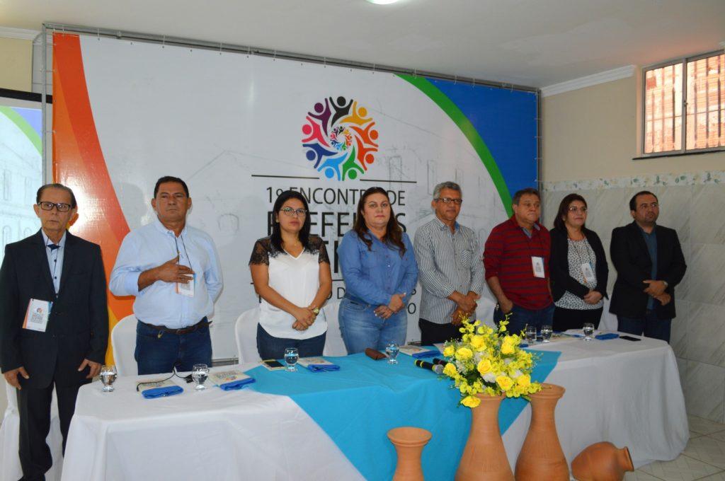 Durante o encontro a prefeita de Rosário, Irlahi Moraes, foi lançada como candidata á presidência da FAMEN.