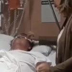Bolsonaro chora e a esposa enxuga suas lágrimas
