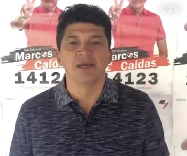 Deputado Rubens Pereira enche a cara de Marcos Play de tapas
