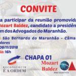 Mozart Baldez promoverá reunião em São Bernardo do Maranhão