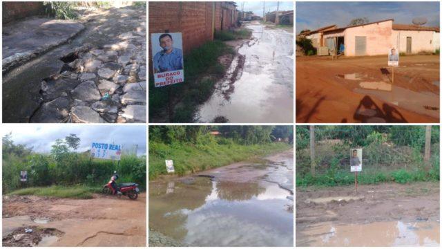 Moradores de Barra do Corda protestam contra estado de abandono da cidade