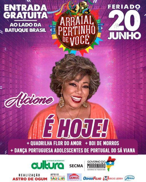 Cantora Alcione faz convite para o Arraial Pertinho de Você