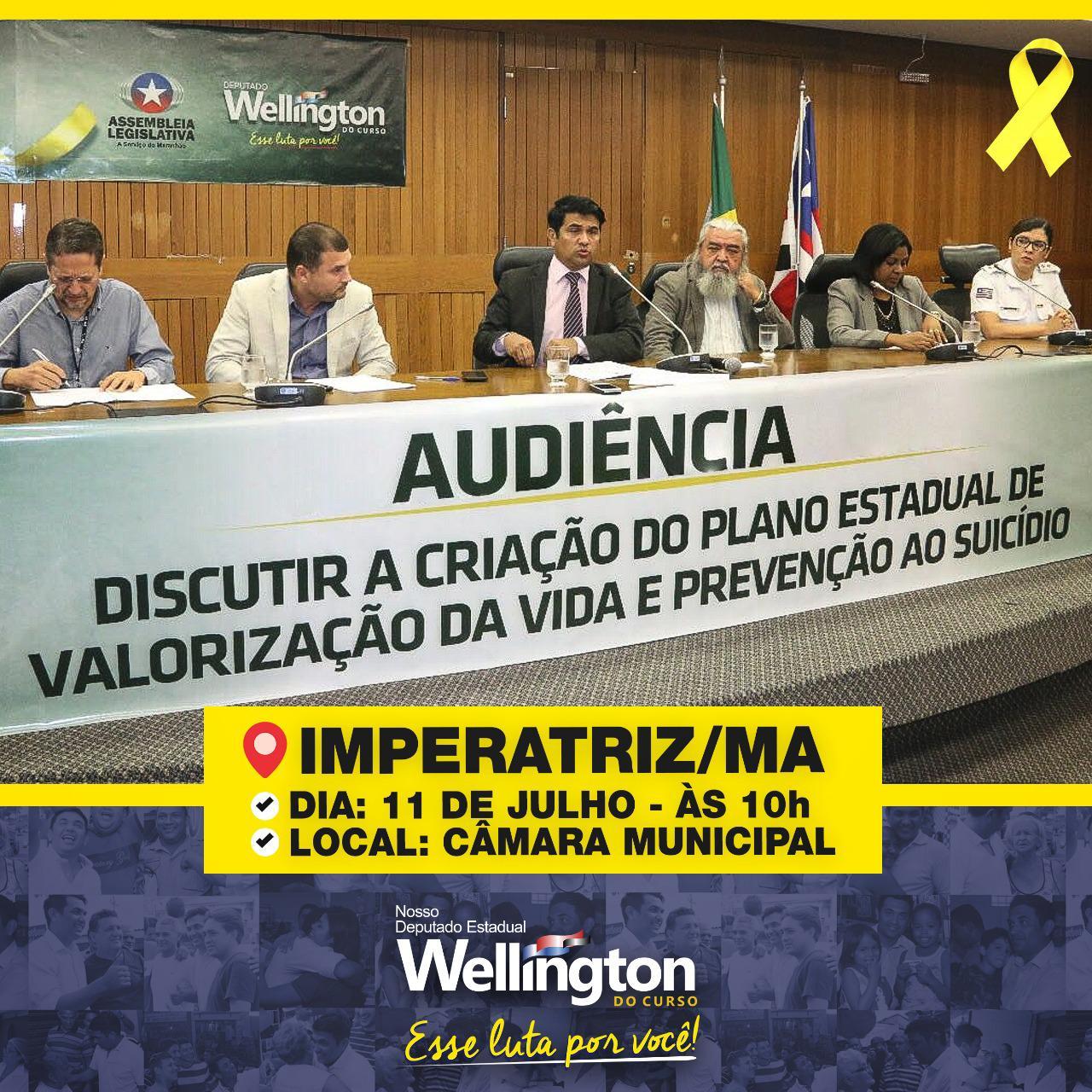 Wellington discute a criação do Plano de Estadual de Valorização da Vida em Imperatriz