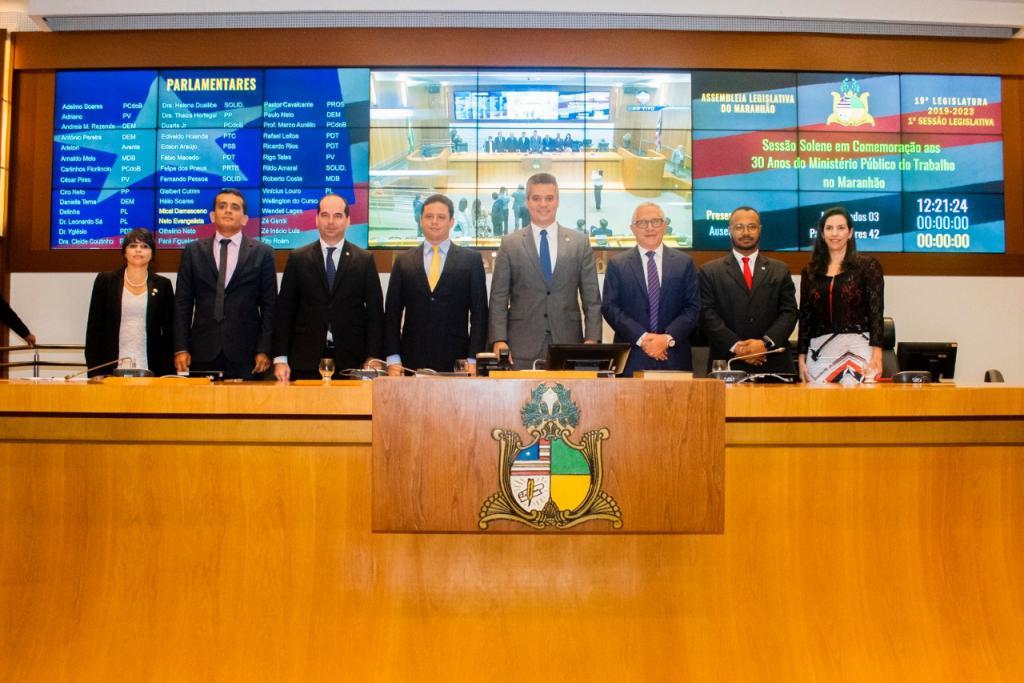 Assembleia realiza sessão solene em homenagem aos 30 anos do Ministério Público do Trabalho no Maranhão