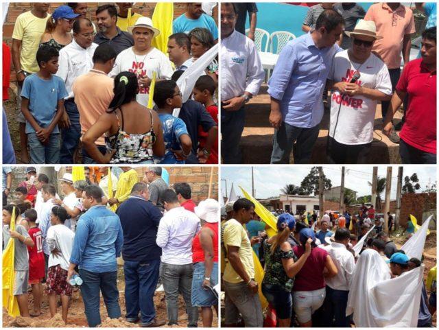 Moradores do Tirirical comemoram a chegada do asfalto