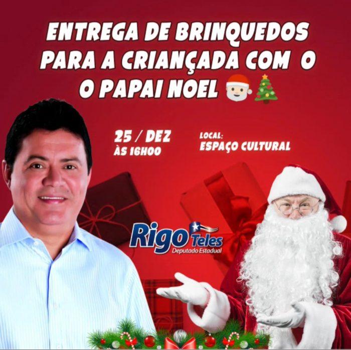 Deputado Rigo Teles promove mega evento para a criançada em Barra do Corda