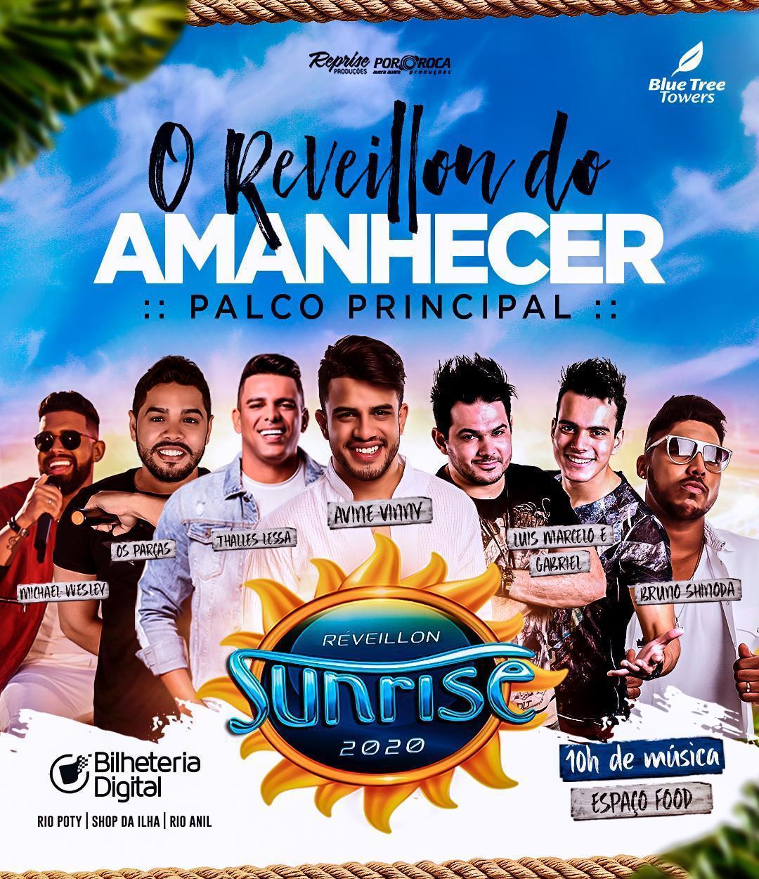 Vem aí o maior e melhor Réveillon do Maranhão: Sunrise 2020