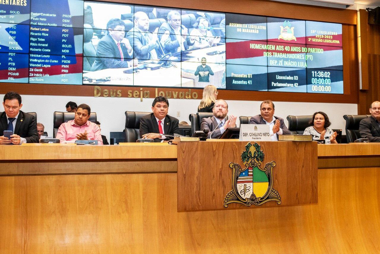 Othelino destaca história e importância do PT para o Brasil em homenagem aos 40 anos do Partido