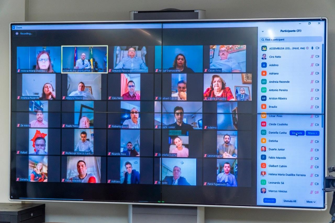 Dia histórico – Assembleia realiza primeira Sessão Extraordinária com Votação Remota por Videoconferência