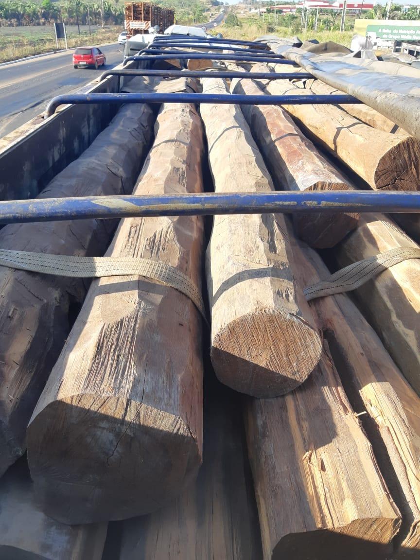 Em 2020 a PRF no Maranhão já apreendeu 76 carretas transportando 3.054 m³ de madeira irregular
